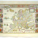 Stare Mape Sveta Stampa Na Platnu Mapa Evrope I Sveta