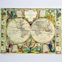 stare mape sveta - digitalna štampa na platnu